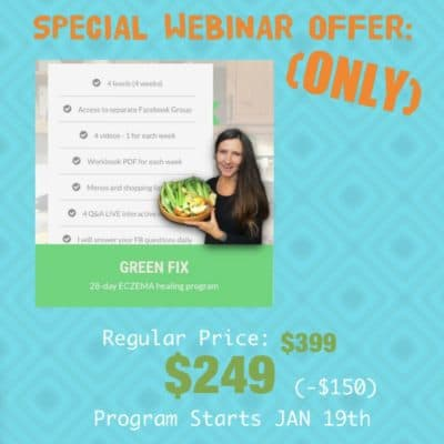 GREEN FIX 28-day ECZEMA healing program (Webinar Offer)